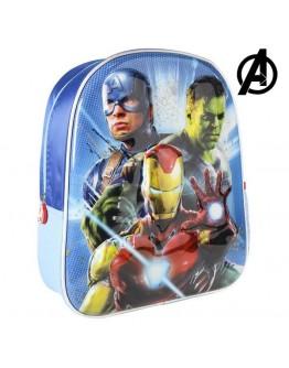3D Child bag The Avengers Blue Metallic