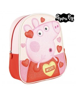3D Child bag Peppa Pig Pink Red